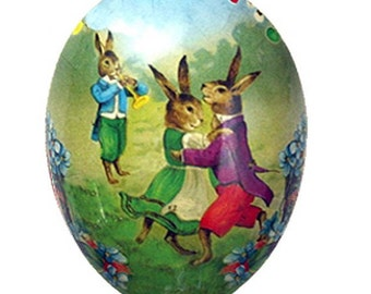 "German Paper Mache Easter Egg Box 4-1/2""  PME502S"