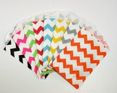Chevron Little Bitty Bags (20) - 9 colors to choose from - food safe - favors, treats, packaging