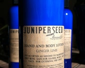 Ginger Lime All Natural Hand and Body Lotion - 8 oz. Pump Bottle