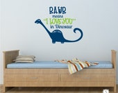 Dinosaur RAWR Kids Wall Decals - Nursery Vinyl Wall Decals Stickers Art