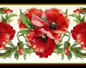 Red Poppy Flower Large Refrigerator Magnet - FREE US SHIPPING