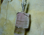 Reserved for Patty - Watermelon Tourmaline Twinned Crystal Sterling Silver Wire Pendant