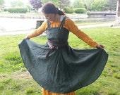 Custom Linen Viking Norse Apron Dress Svana  SCA LARP Pennsic