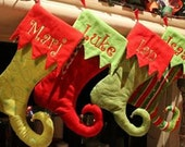 Custom order for Lacey Cox--Elf Stockings