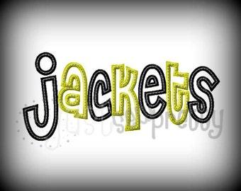 Jackets Cheri Embroidery Applique Design