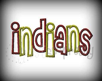 Indians Cheri Embroidery Applique Design