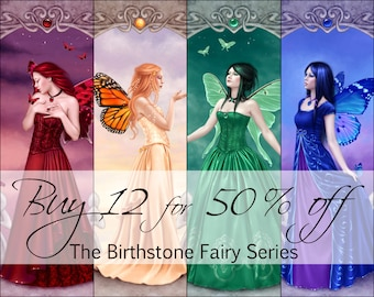 The Birthstone Fairies Series - BOGO ALL 12 Prints, for HALF Price -  Fairy Art Prints