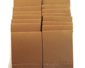 Kraft  Matchbook Notepads Set of 20  Match Books Mini Note Pads in Kraft