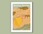Movie poster Moonrise Kingdom 12x18 inches retro print
