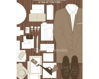 Movie poster A Single Man 12x18 retro print