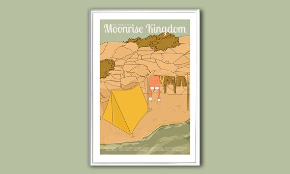 Movie poster Moonrise Kingdom 12x18 inches retro print