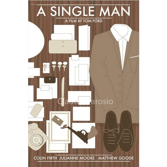 Movie poster A Single Man retro print in various sizes