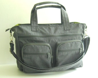 Sale Deep Plum Water Resistant nylon Messenger Bag Diaper