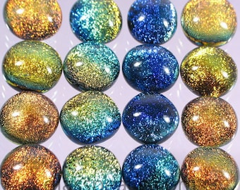 Dichroic Fused Glass Cabochons - WHOLESALE Jewelry Supplies - Dichro Glass Cabs by Glass Peace (2957)