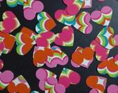 Color Striped Heart Confetti