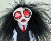 Reserved for Gaby - Alister - A Little Demon - Peg Doll Art Doll