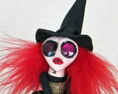 Mabel - A Witch Peg Doll Art Doll