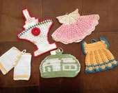 Vintage Crochet Potholder Collection