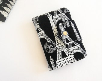 Passport Wallet , Travel Wallet, Organizer for Two (2) , Three (3) or Four (4) Passports in  Paris Eiffel Tower - MADE To ORDER