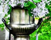 Wind Chime and Planter - One-of-a-Kind, Champagne Bucket Wind Chime and Planter