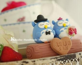 Owls wedding cake topper---k519
