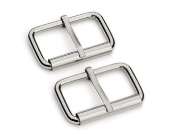 "10pcs - 1 1/4"" Roller Pin Belt Buckles - Nickel - Free Shipping (ROLLER BUCKLE RBK-116)"