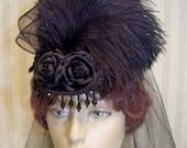 Victorian Riding Hat Steampunk Hat Civil War Hat SASS Hat Re-enactment Equestrian Hat Halloween Hat