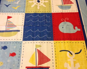 Reversible nautical quilt
