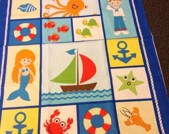 Whimsical nautical quilt