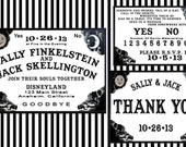 Custom Listing for Geneiveve - Spooky Ouija Board Halloween Wedding Invitation Set - 70 Sets with Red Envelopes