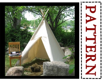 Teepee Pattern, Sewing Pattern, Easy to Sew, Play Tent Pattern, Kids Tent Pattern, Beginning Sewing