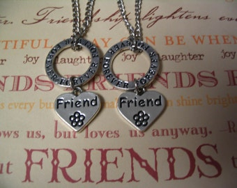 Friend Forever Necklace Set for Best Friends Mother Daughter or Sisters