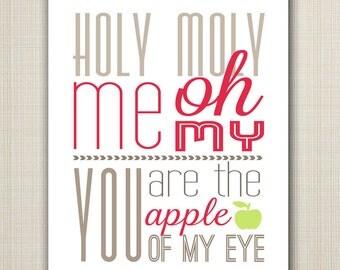 apple of my eye printable 8x10 children's art print