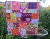 Melody Miller Random Patchwork Baby Quilt Ready to Ship