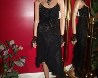 Vintage Exclusive  Beaded  Deco Evening  Dress Flapper   20s Theme Size 4