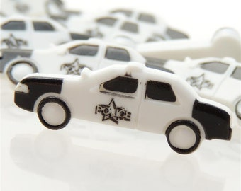 Police Car Buttons by Buttons Galore