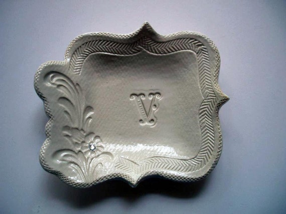 Victorian Initial Jewelry Holder