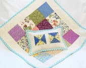 Doll Quilt, Pillow - Naptime Pillow, Lovey Set, Wall Hanging, Throw Pillow