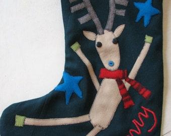 Dancing Moose Christmas stocking