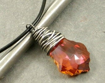 Crystal Necklace Wire Wrapped Pendant Gifts for Her