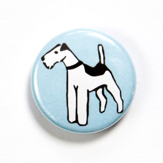 Fox Terrier Badge, Fox Terrier Gift, Wire Fox Terrier Button, Fox Terrier, Terrier Badge, Dog Button, Dog Badge, Pet Lover