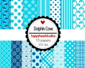 Digital Scrapbooking DolphinCove-INSTANT DOWNLOAD