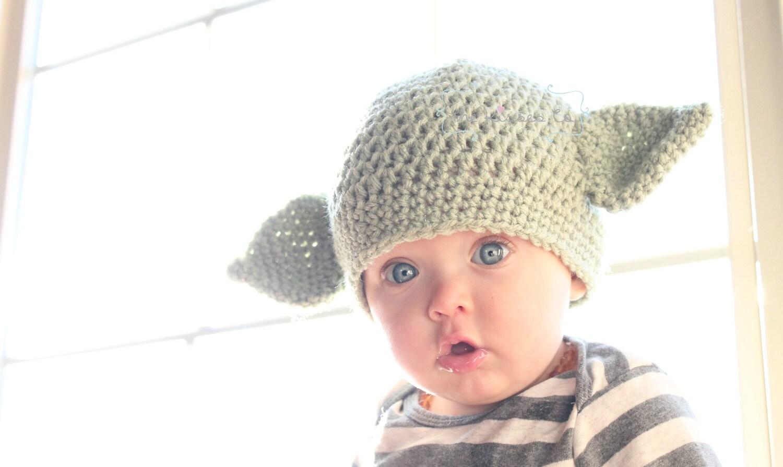 The Kisses Co. Yoda Beanie Crochet Star Wars Hat Baby