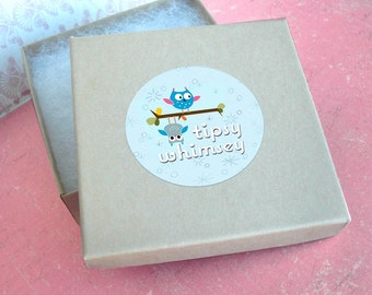 Add a gift box to your CHARM order with Tipsy Whimsey .. may purchase separately or add it to your order