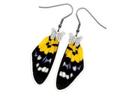 Real Butterfly Wing Earrings (Militaris Forewing - E070)