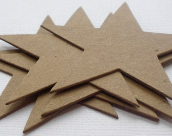 POINT STARS - CHiPBOARD Die Cuts -  Bare Craft Shapes