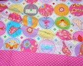 Princess print dot border pink A9