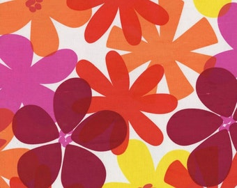 FAT QUARTER-Contemporary Florals in Orange, pink, raspberry and yellow Michael Miller Fabrics CX5544-TANG-D