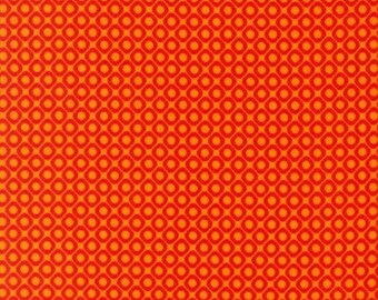 Three (3) Yards- Hello Tokyo Diamonds in Orange by Robert Kaufman Fabrics ALL-14001-267 ADVENTURE