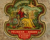 Antique Vintage French Apothecary Perfume Label 51